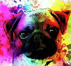giant-pug-watercolor-print-robert-r-splashy-art-abstract-paintings.jpg (375×350)