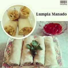Lumpia Manado for sale  (^.*)^  Available at : Jl. Gaharu III no. 3 Cipete, South Jakarta.    FREE delivery around Cipete area for min. order 5 box (pack of 2). Other area delivery charge will be applied accordingly.   ORDER NOW : WA 081314302143 :)                           FB : Livy Lyvee​,LINE : Lyvee, IG : Livylyvee