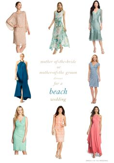 Unique Beach Mother of the Bride Dresses