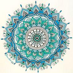 Turquoise Mandala by Sira Mercan