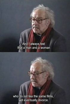 Is Divorce in the future for any couple who doesn't enjoy the same films? The answer from Jean-Luc Godard