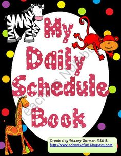 My Daily Schedule Book product from School-Safari on TeachersNotebook.com