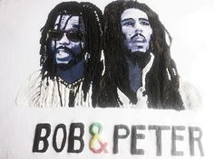 BOB MARLEY & PETER TOSH T-shirt Painting 3d by Quor