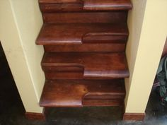 space saving stairs.  Like an old ship's ladder, these save so much space in your small cottage