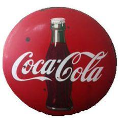 Vintage Porcelain and Metal Coca Cola Sign