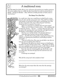In this language arts worksheet, your child will read three parts of a traditional story from India and answer questions about the characters' feelings using complete sentences. 4th Grade Reading Worksheets, 3rd Grade Reading, Writing Worksheets, Preschool Worksheets, Reading Comprehension Worksheets, Comprehension Questions, Reading Passages, Reading Strategies, Language Arts Worksheets