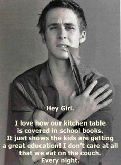 Hey girl. Schoolbooks.