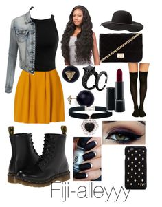Thanksgiving Outfit by fiji-alleyyy on Polyvore featuring polyvore, fashion, style, Miss Selfridge, Dr. Martens, Forever 21, Rock 'N Rose, Aqua, Diane Von Furstenberg, Charlotte Russe, MAC Cosmetics, Ardell and LE3NO