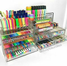 Diy Art Supplies Organization Pens 68 Ideas For 2019 Art Supplies Storage, School Supplies Organization, Cute School Supplies, Craft Organization, Craft Storage, Organizing Ideas, Office Supplies, Pen Storage, Organizing Life