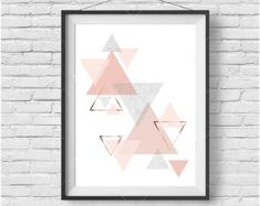 Scandinavian Wall Art Scandinavian Print Geometric by PrintAvenue