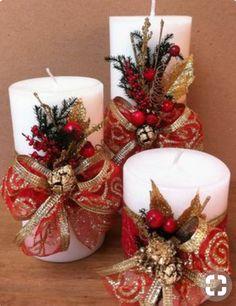 32 erstaunliche DIY Weihnachten Craft Design Id … Christmas Candle Decorations, Christmas Arrangements, Christmas Candles, Gold Christmas, Christmas Holidays, Christmas Wreaths, Christmas Ornaments, Beautiful Christmas, Tv Stand Christmas Decor