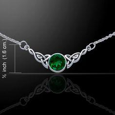 Celtic Knotwork Silver Necklace TN224