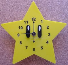 Super Mario Star clock by TheobaldGraphics on Etsy https://www.etsy.com/listing/165235762/super-mario-star-clock