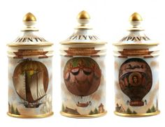 French Montgolfier Apothecary Jars - Phisick   Medical Antiques