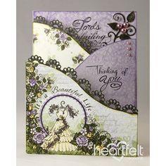Heartfelt Creations - Blushing Rose Foldout Card Project