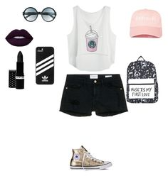 """""""🌟🌟"""" by alexia-chitul on Polyvore featuring Frame Denim, Converse, adidas, Tom Ford, Lime Crime and Hard Candy"""