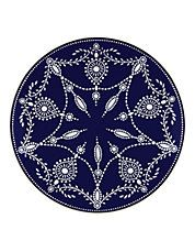 Assiette décorative Empire Pearl indigo