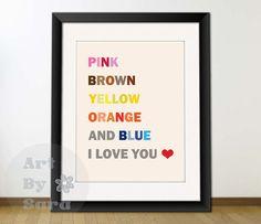 Beatles Song Subway art print 8x10 love song lyrics by ArtbySara