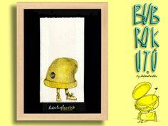 """Butterbrotkunsttüte """"mütze""""- gerahmt! von Die Bubrokutü auf DaWanda.com"""