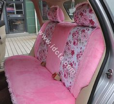 Buy Wholesale Bow Lace Universal Auto Car Seat Cover Set Short ...