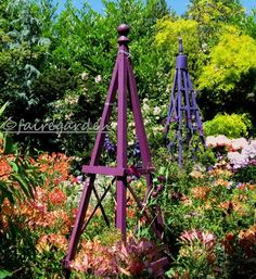 diy whimsical trellis | Found on fairegarden.wordpress.com