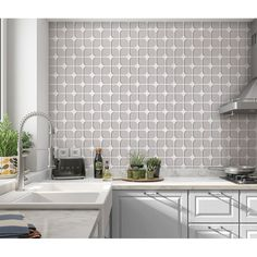 Peel And Stick Wallpaper, Wall Spaces, Bathroom Wall, Wall Tiles, Backsplash, Modern Contemporary, Tile Floor, Home Goods, Home Improvement