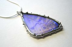 Pearl Morpho Butterfly Necklace by neile on Etsy, $80.00