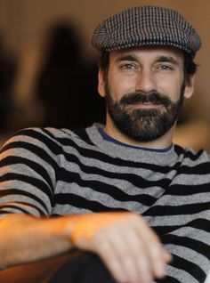 I'm pretty sure this is Jon Hamm, off-camera and off-season...I'm pretty sure.  I must say, he looks very nice when he's very...scruff.