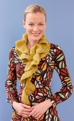Easy and fun scarf to make. I have made one in black and one in fuscia so far. Good beginner crochet project.