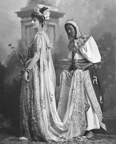 Gladys, Countess de Grey as Cleopatra and 'Nubian Attendant'.