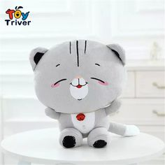 >> Click to Buy << Triver Toy Hot sale cute lovely jingle bell cat plush stuffed toys doll kids girl boy toys birthday gift 1pc free shipping #Affiliate