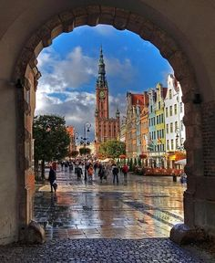 Beautiful Places Throughout Europe — Long Market Street, Gdansk, Poland Places Around The World, Oh The Places You'll Go, Places To Travel, Places To Visit, Around The Worlds, Beautiful World, Beautiful Places, Beautiful Pictures, Gdansk Poland