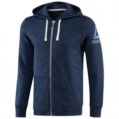 Reebok Elements Full Zip Hoodie fitness vest heren collegiate navy