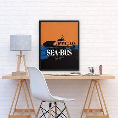 Retro SeaBus Poster