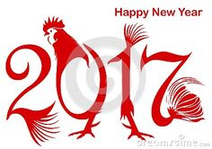 Happy New Year 2017 Style Rooster Color Red - Download From Over 49 Million High Quality Stock Photos, Images, Vectors. Sign up for FREE today. Image: 79340392