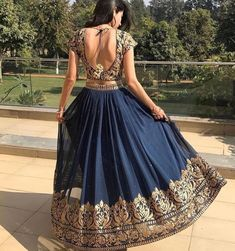 Do you need the best Modern Indian Sari also items such as Classic Sari plus Elegant Design Sari Blouse in which case CLICK VISIT link above for more options indianfashion Indian Lehenga, Blue Lehenga, Lehenga Choli, Lehenga Skirt, Indian Salwar Kameez, Indian Look, Indian Ethnic Wear, Lehenga Designs, Indian Wedding Outfits