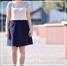 Jupe Madelein, d'après la robe Madeleine de République du chiffon - Tissu sacrés coupons - boutons Emmaüs