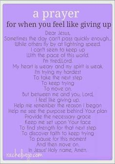 Giving up is never an option, but prayer- that's always an option. Read and study this. The power of prayer is stronger than you may know or think. Keep the faith. God is good all the time. Power Of Prayer, My Prayer, Strength Prayer, Faith Prayer, Prayer Wall, Prayer For Broken Heart, Exam Prayer, Give Me Strength Quotes, Night Prayer