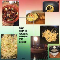 Easy, delicious & cheap 🤗 Homemade Indische speklapjes uit oven met roerbak witte kool, ei, lombok & rijst 🍽