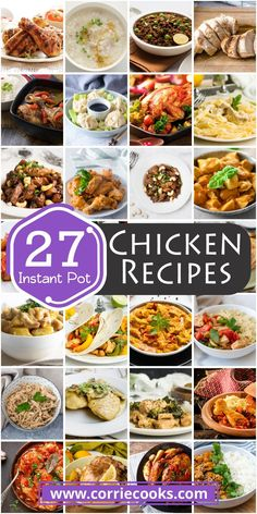 If you like chicken don't miss these Instant Pot chicken recipes! Find a huge collection of delicious dishes including chicken wings, orange chicken, frozen chicken and even one pot meals. Best Pressure Cooker Recipes, Pressure Cooker Chicken, Instant Pot Pressure Cooker, Slow Cooker, Yummy Chicken Recipes, Pork Recipes, Best Instant Pot Recipe, Frozen Chicken, Orange Chicken