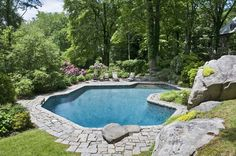 Another view of my (in my dreams) pool.  (The Enchanted Home Blog)
