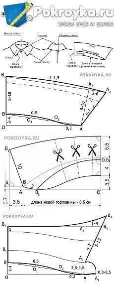 Выкройка отложного воротника | pokroyka.ru-уроки кроя и шитья