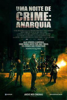 'Uma Noite de Crime – Anarquia' entrou hoje em cartaz nos cinemas! O filme é interessante. http://cinemabh.com/filmes/uma-noite-de-crime-anarquia
