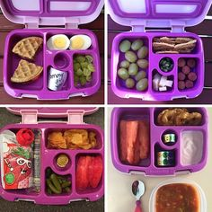 """68. Sunflower Seed Butter and Strawberry Wafflewich, hard-cooked egg, grapes, Mommy note 69. Grapes, Sunchips, hot dogs, cheddar cheese, edamame 70. Yogurt squeezie, string cheese, """"Daddy's hot chips"""" ie. Zapps, apple, no-salt-added green beans, chocolate coins 71. Watermelon, pretzels, strawberry Greek yogurt, vegetable soup"""
