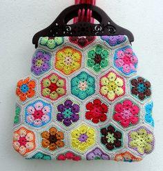 Patrón: flor africana a crochet