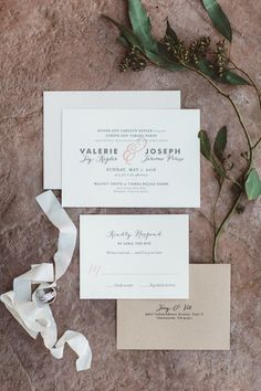 Bohemian rustic wedding invitation paper suite: Photography: Anna Delores Photography - annadelores.com   Read More on SMP: http://www.stylemepretty.com/california-weddings/moorpark-california/2016/09/13/rustic-bohemian-wedding-in-california/
