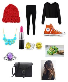 """Rainbow🌈"" by carissacapuzzi on Polyvore featuring Chicnova Fashion, Boohoo, Converse, MAC Cosmetics, Emi Jewellery and Bling Jewelry"