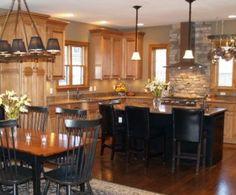 Honey Oak Cabinets With Orange Wall Kitchen Ideas