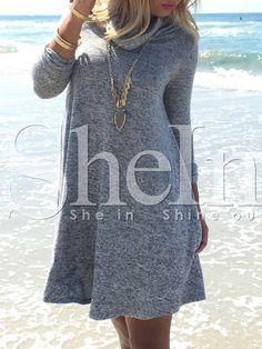 Shop Grey High Neck Casual Dress online. SheIn offers Grey High Neck Casual Dress & more to fit your fashionable needs.