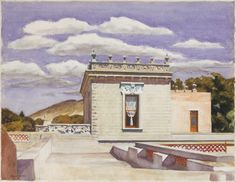 Saltillo Mansion    Artist: Edward Hopper (American, Nyack, New York 1882–1967 New York)  Date: 1943  Medium: Watercolor on paper  Dimensions: 21 1/4 x 27 1/8 in. (54 x 68.9 cm)